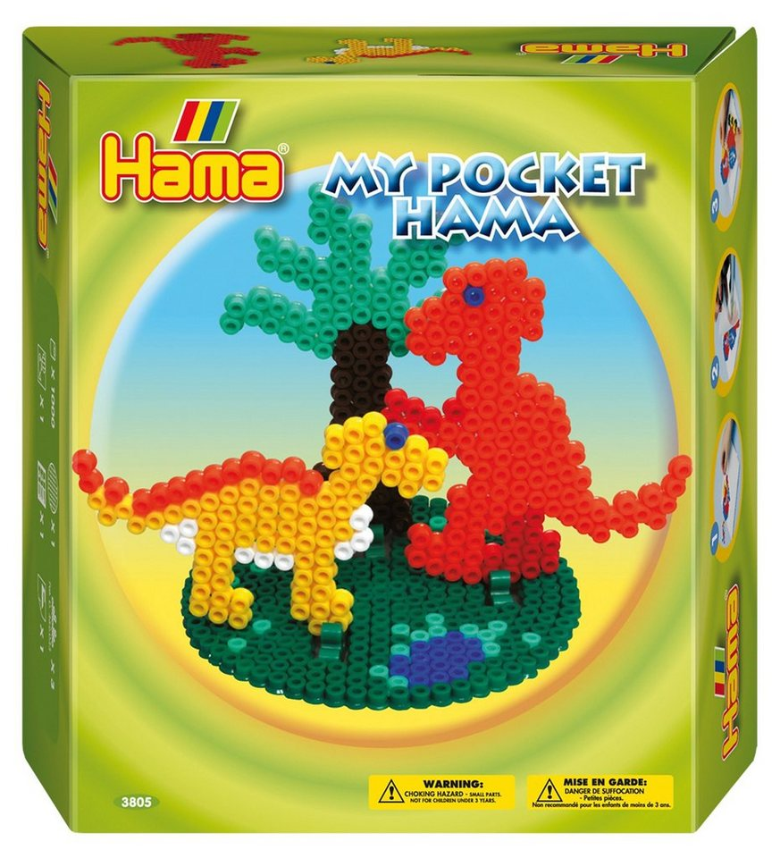 hama perlen hama 3805 midi my pocket dinosaurier ca 1000 st ck online kaufen otto. Black Bedroom Furniture Sets. Home Design Ideas