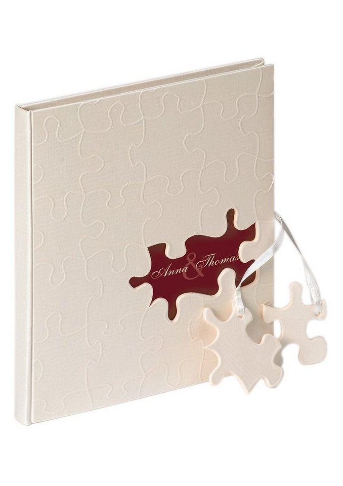 Home affaire Hochzeitsalbum/Gästebuch »Puzzle« in weiß