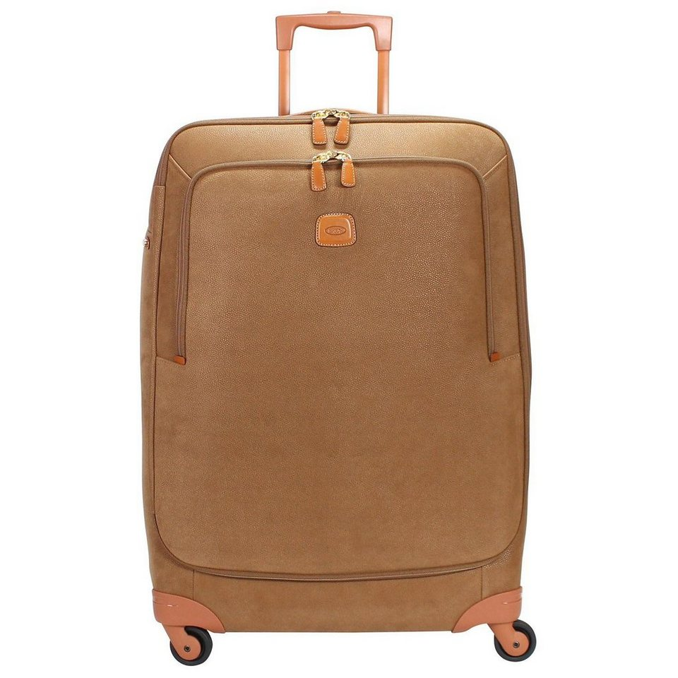 Bric's Life Trolley Spinner 4-Rollen 77 cm in camel