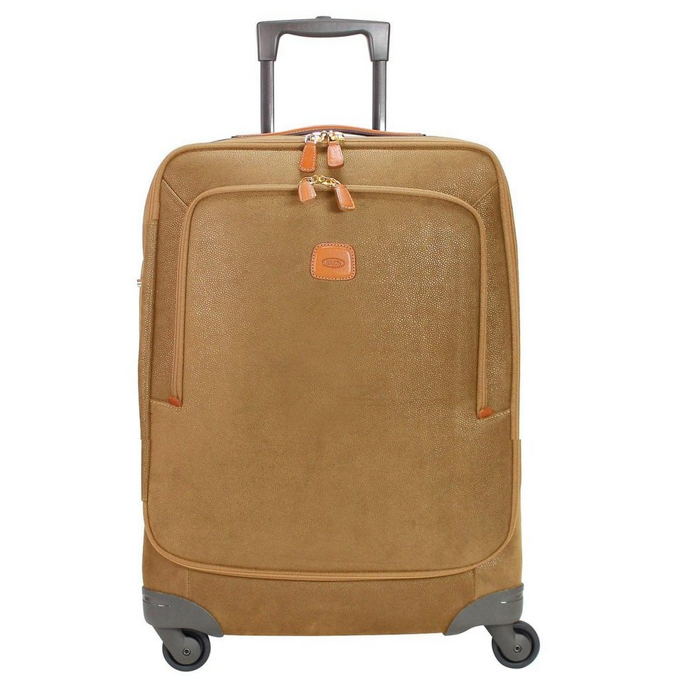 Bric's Life Trolley Spinner 4-Rollen 68 cm in camel