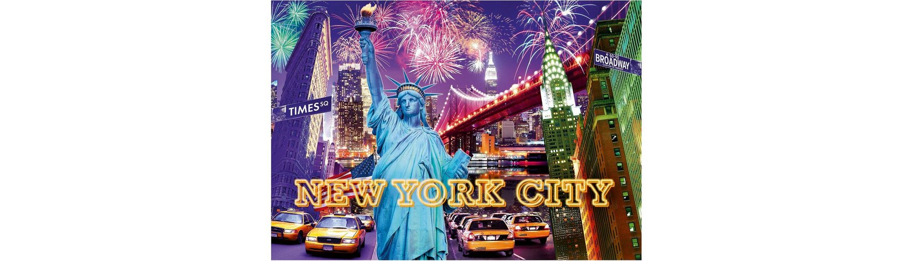Ravensburger Puzzle 1200 Teile, »Farbenfrohes New York«