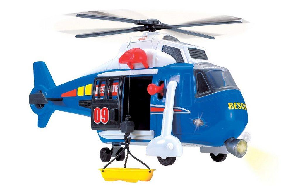 Dickie Toys Helikopter mit drehbarem Rotor, Licht und Sound