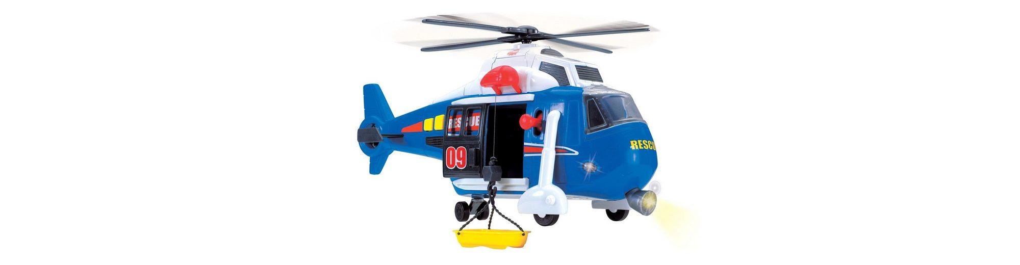 Dickie Helikopter mit drehbarem Rotor, Licht und Sound