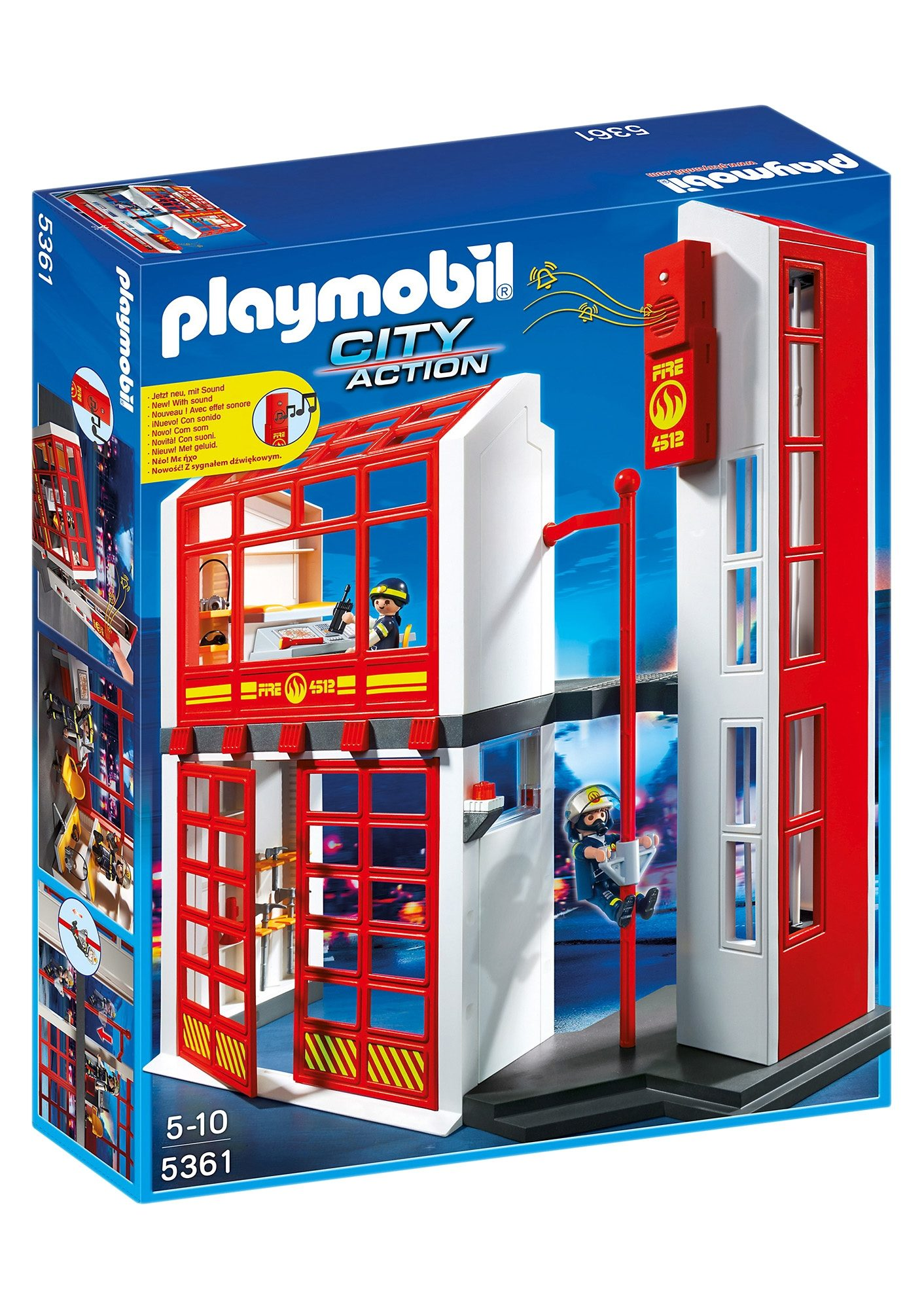 Playmobil® Feuerwehrstation mit Alarm (5361), City Action