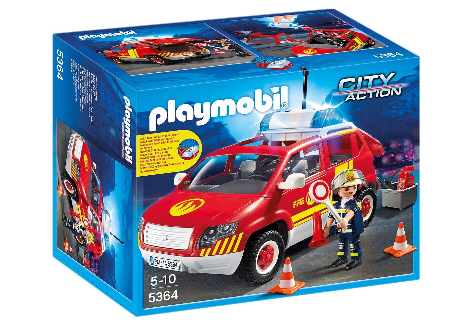 Playmobil®Brandmeisterfahrzeug mit Licht und Sound (5364), City Action