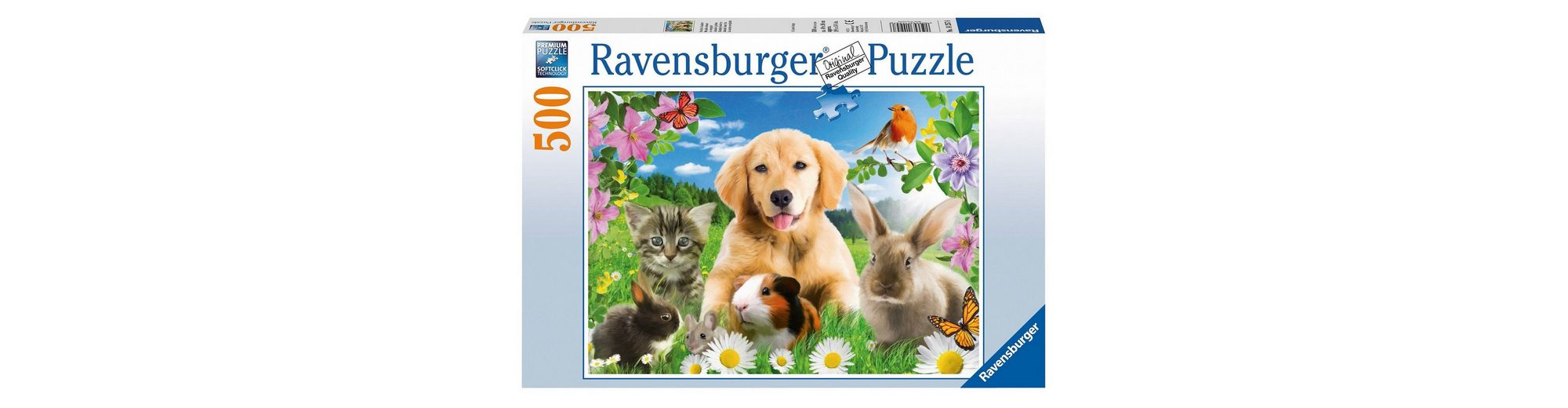 Ravensburger Puzzle 500 Teile, »Niedliche Haustiere«