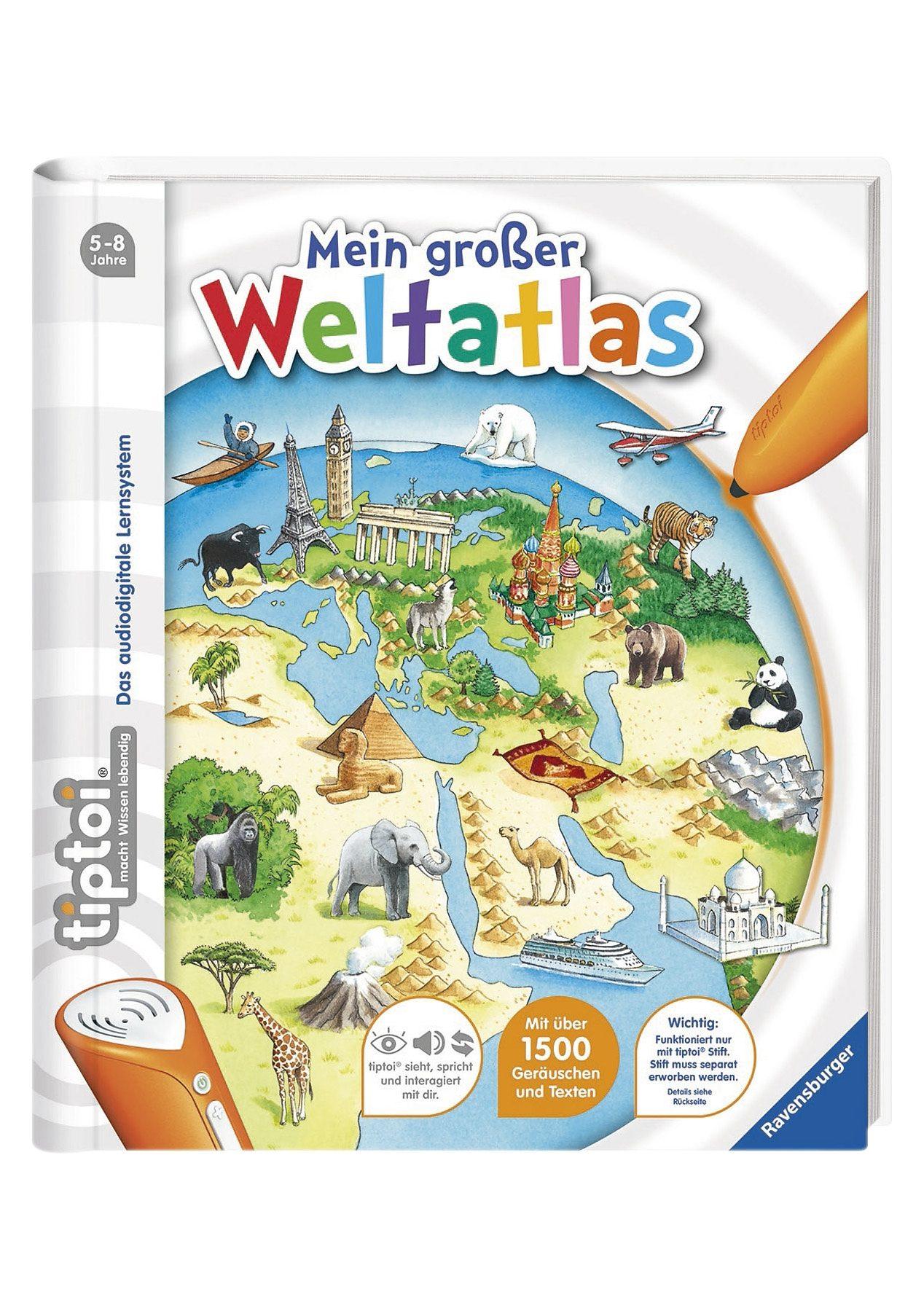 Ravensburger Buch, tiptoi®, »Mein großer Weltatlas«