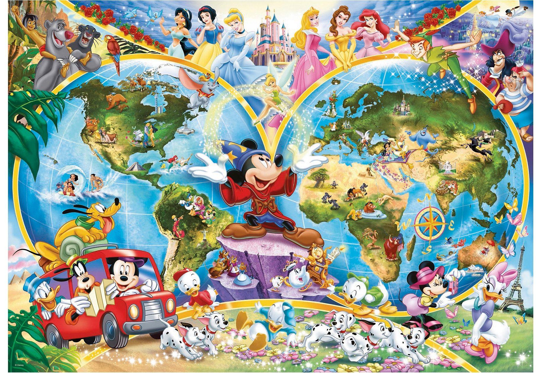Ravensburger Puzzle 1000 Teile, »Disneys Weltkarte«