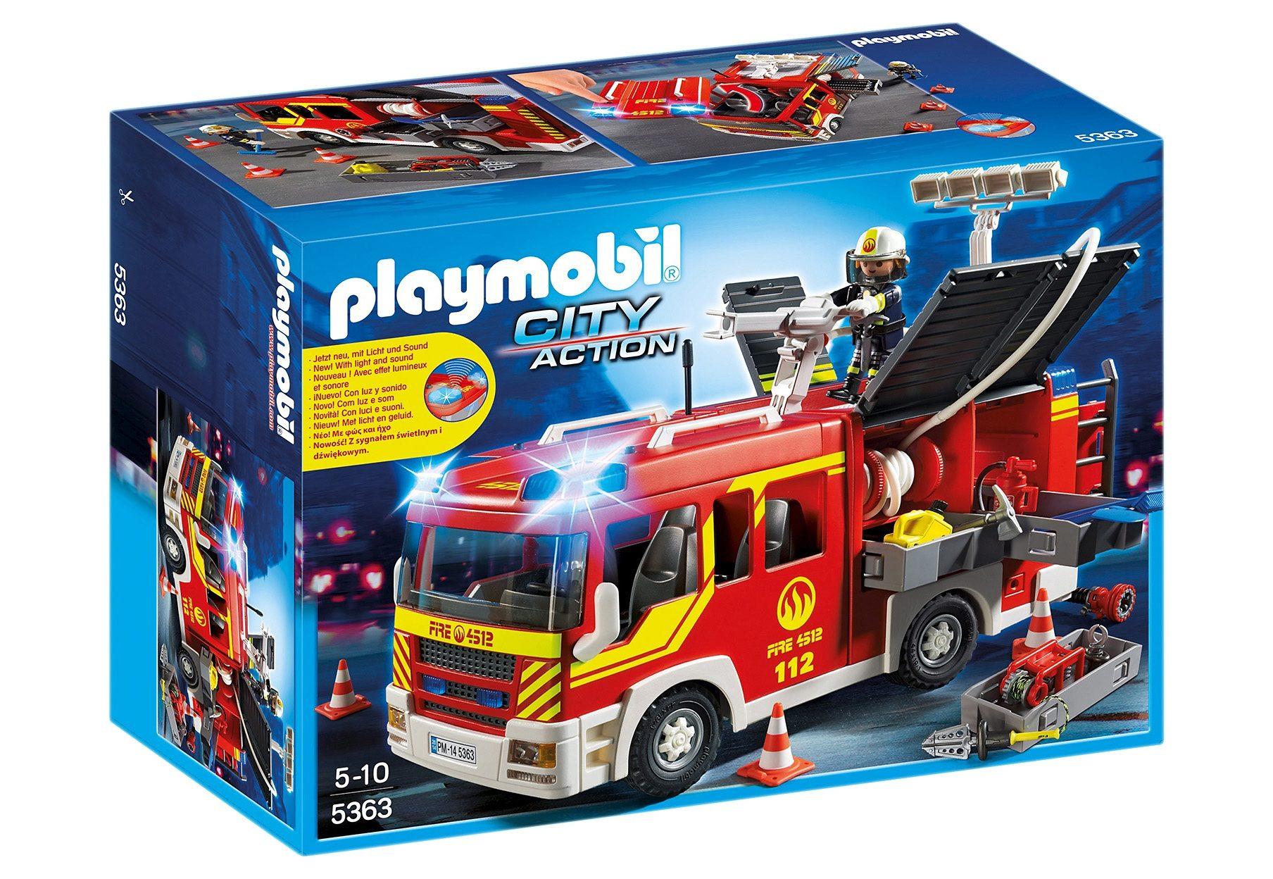 Playmobil® Löschgruppenfahrzeug mit Licht und Sound (5363), City Action