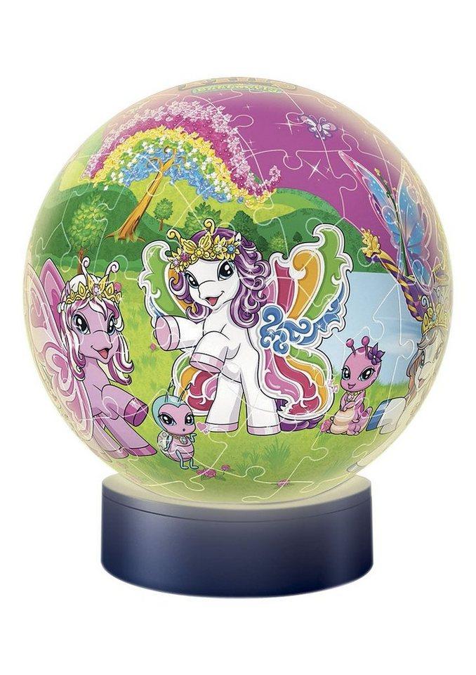3D Puzzle-Ball 72 Teile, »Nachtlicht - Filly® Welt«, Ravensburger