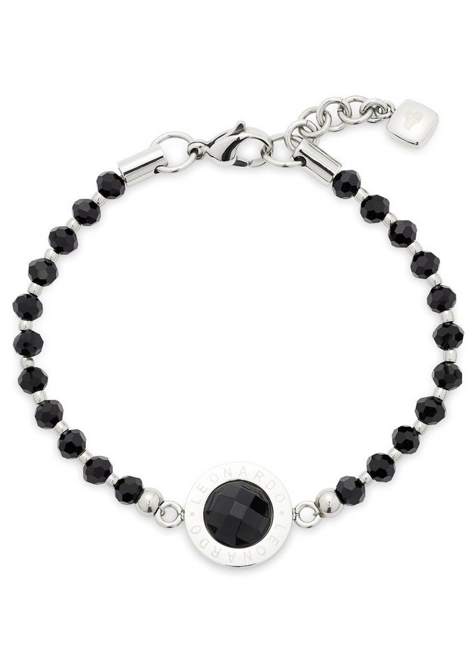 Armband, »Matrix, 015400«, Jewels by Leonardo in silberfarben/schwarz
