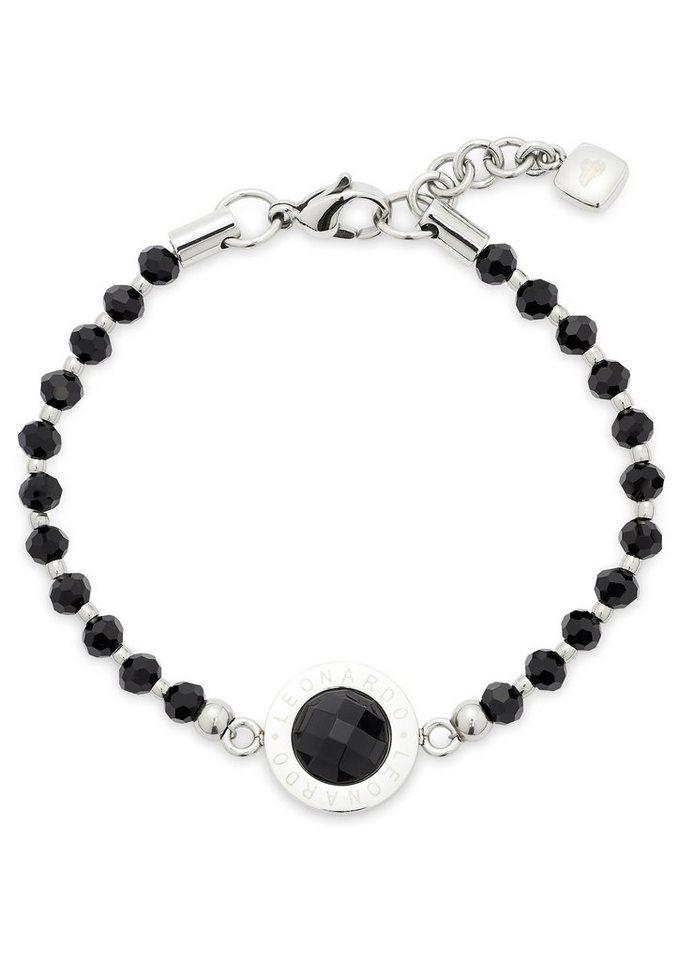 Armband, »Matrix, 015400«, Jewels by Leonardo in silberfarben/schwarz