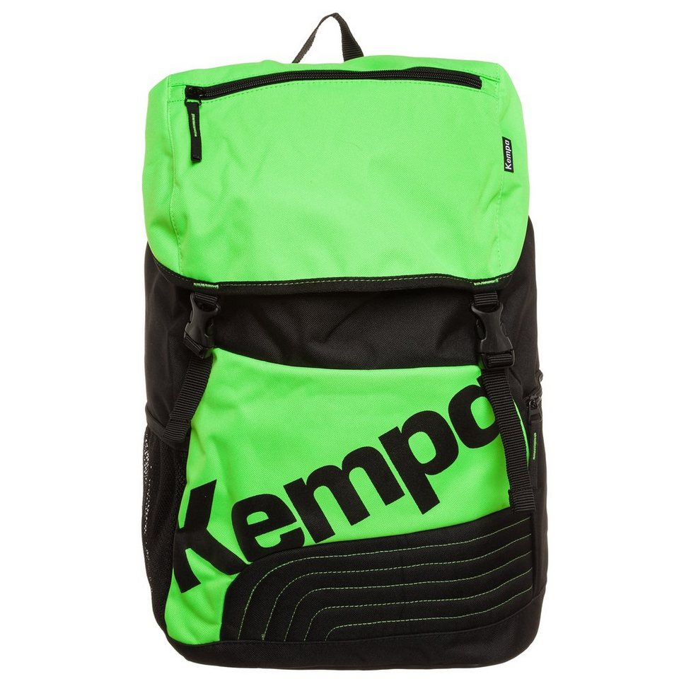 KEMPA Sportline Backpack in fluo grün/schwarz