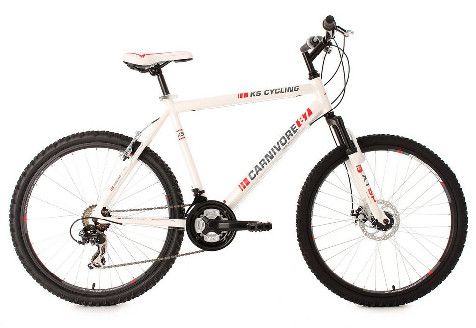 hardtail mountainbike 26 zoll wei 21 gang. Black Bedroom Furniture Sets. Home Design Ideas