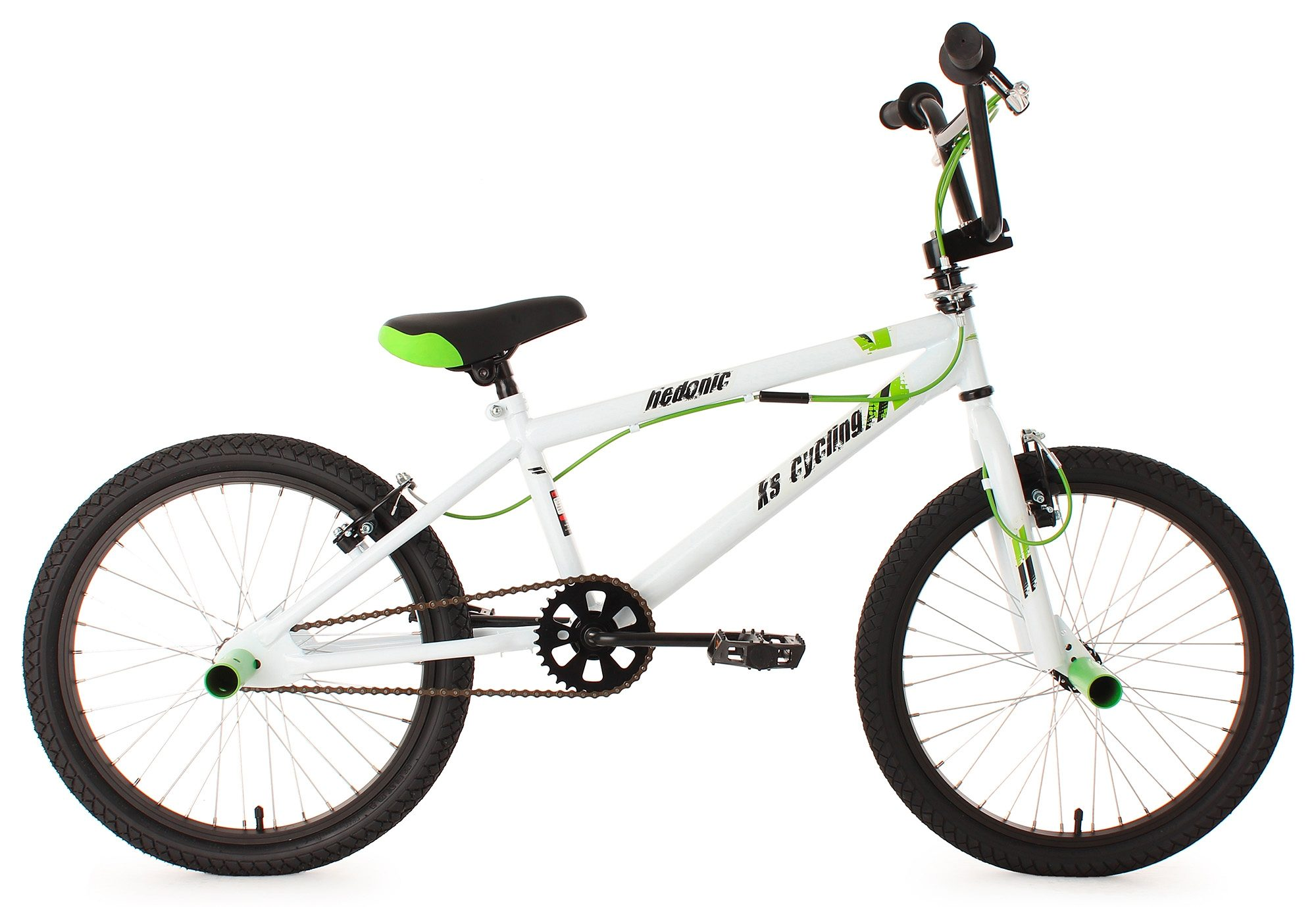 BMX Fahrrad, 20 Zoll, weiß, 360 Grad Rotor, »Hedonic«, KS Cycling
