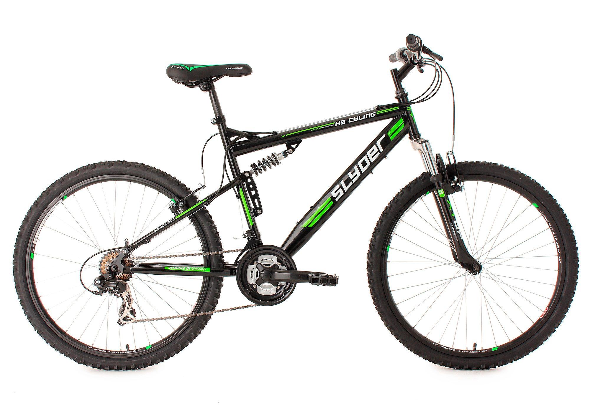 Fully-Mountainbike, 26 Zoll, schwarz, 21 Gang Kettenschaltung, »Slyder«, KS Cycling
