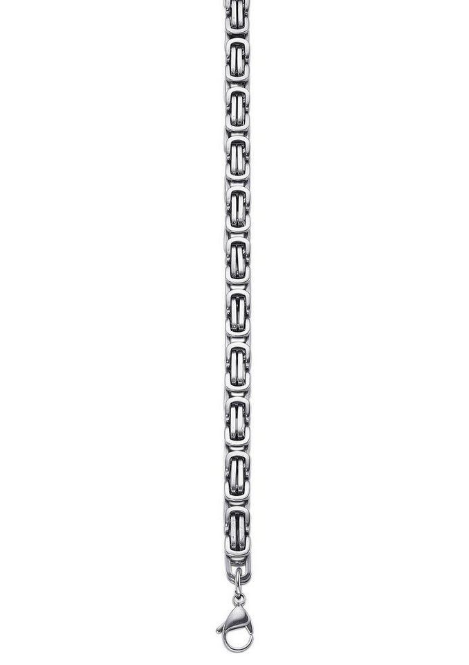 Armschmuck: Armband in Königskettengliederung in silberfarben