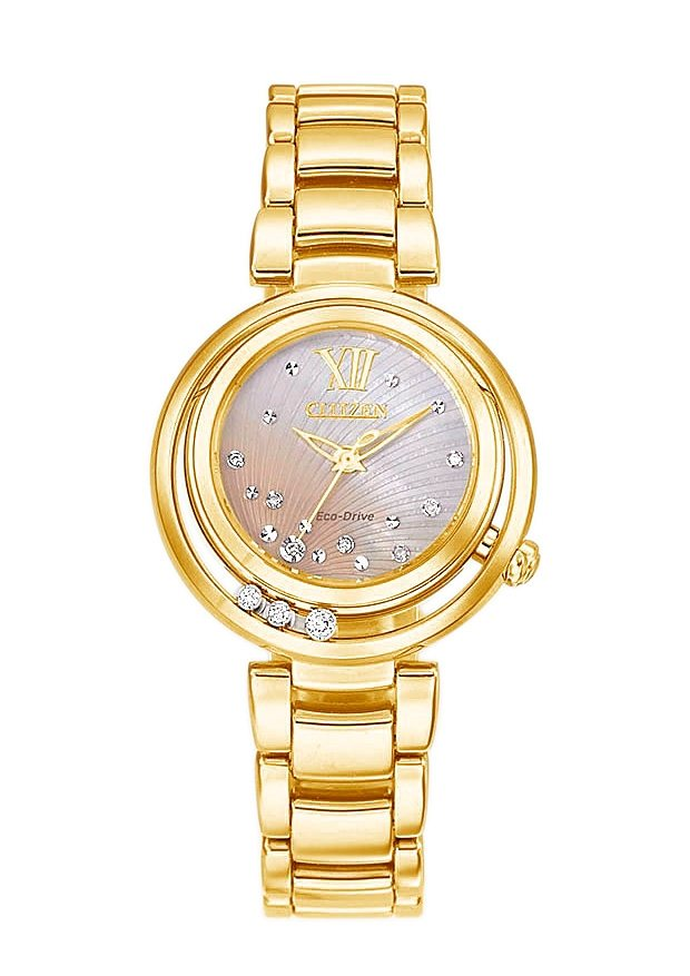 "Citizen, Armbanduhr, ""EM0325-55P"" in goldfarben"
