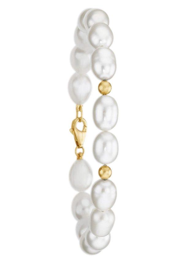 firetti Armschmuck: Armband mit glänzenden Kugeln und Perle