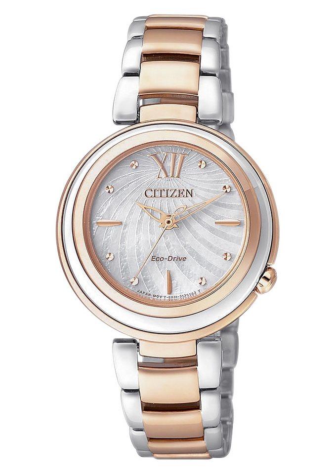 Citizen Quarzuhr »EM0335-51D« in roségoldfarben-silberfarben