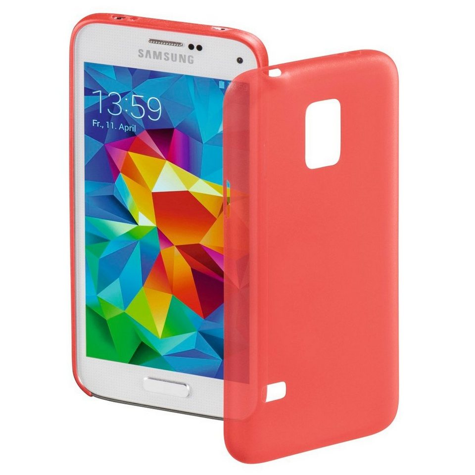 Hama Cover Ultra Slim für Samsung Galaxy S5 mini, Rot in Rot