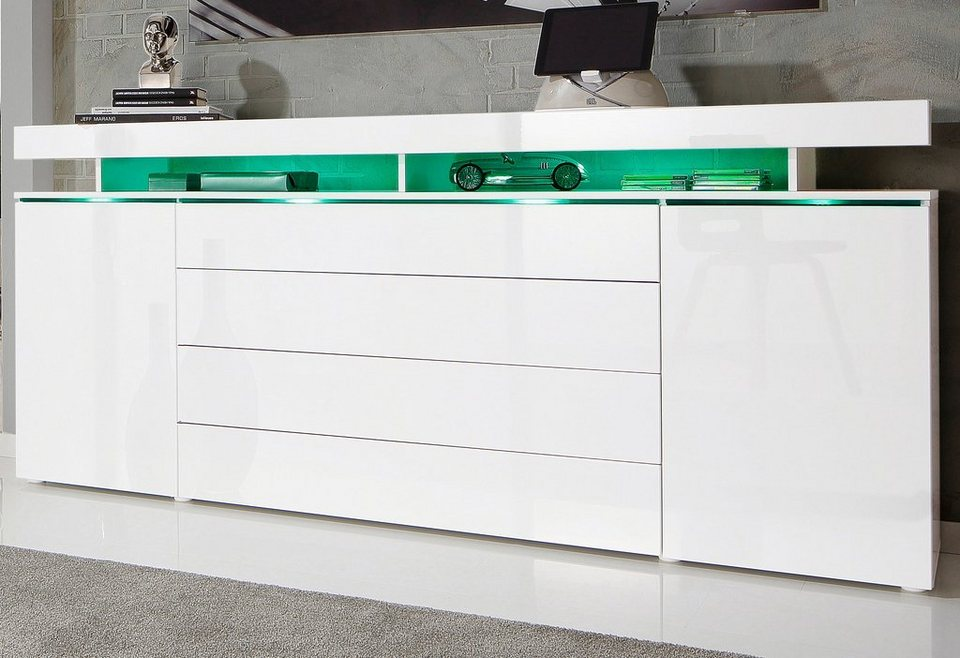 sideboard 200 cm wei bestseller shop f r m bel und. Black Bedroom Furniture Sets. Home Design Ideas