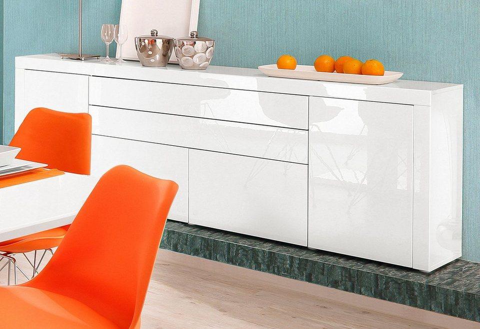 Sideboard, Breite 200 cm in weiß