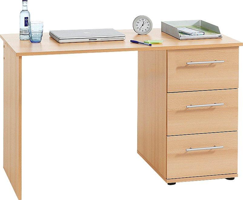 Schreibtisch tobi mit 3 schubk sten kaufen otto for Pc schreibtisch mit aufsatz buchefarben