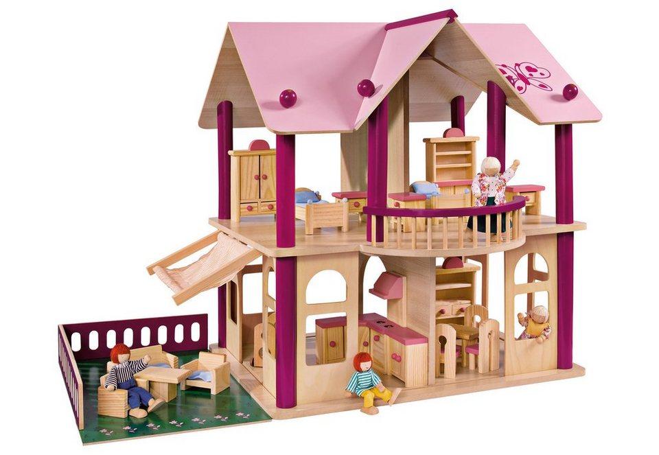 Groses Puppenhaus Aus Holz Von Eichhorn ~  Puppen  Puppenhaus  Puppenhaus, »Villa, 75 Teile«, Eichhorn