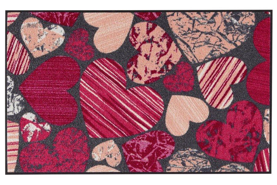 heine home Fußmatte in grau/pink