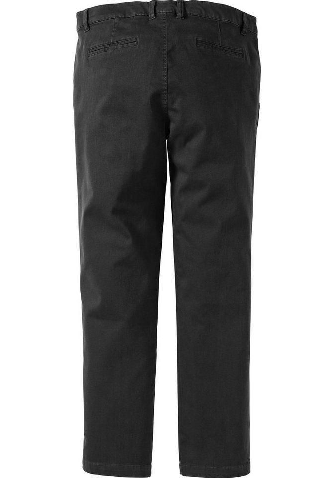 sheego Casual Vielseitige Chino Hose in schwarz