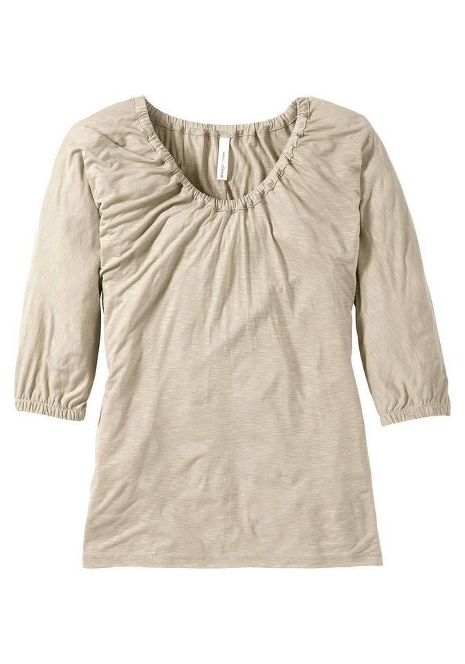 sheego Casual Lockeres Shirt in beige