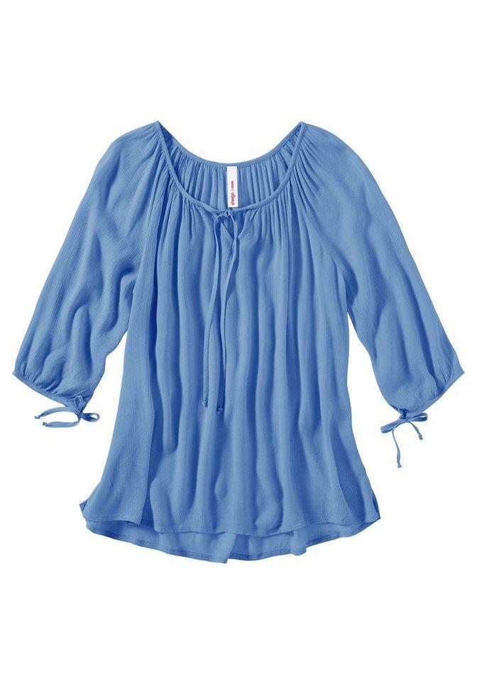 sheego Casual Basic Shirt in hellblau