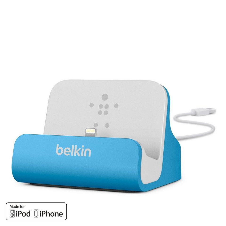 BELKIN Kabel & Adapter »Sync-/Lade-Dock für iPhone blau, weiss«