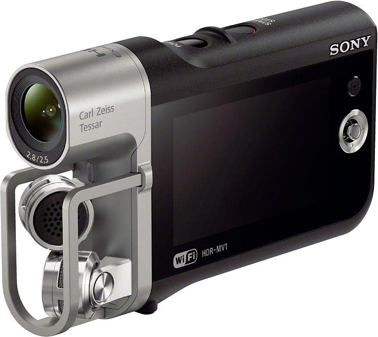 Sony HDR-MV1 Musik-Videorecorder / 1080p (Full HD) Camcorder, WLAN, NFC in schwarz