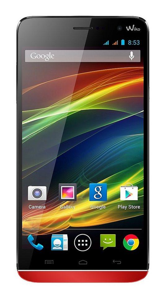 Wiko SLIDE Smartphone, 13,9 cm (5,5 Zoll) Display, Android 4.4, 8,0 Megapixel in koralle
