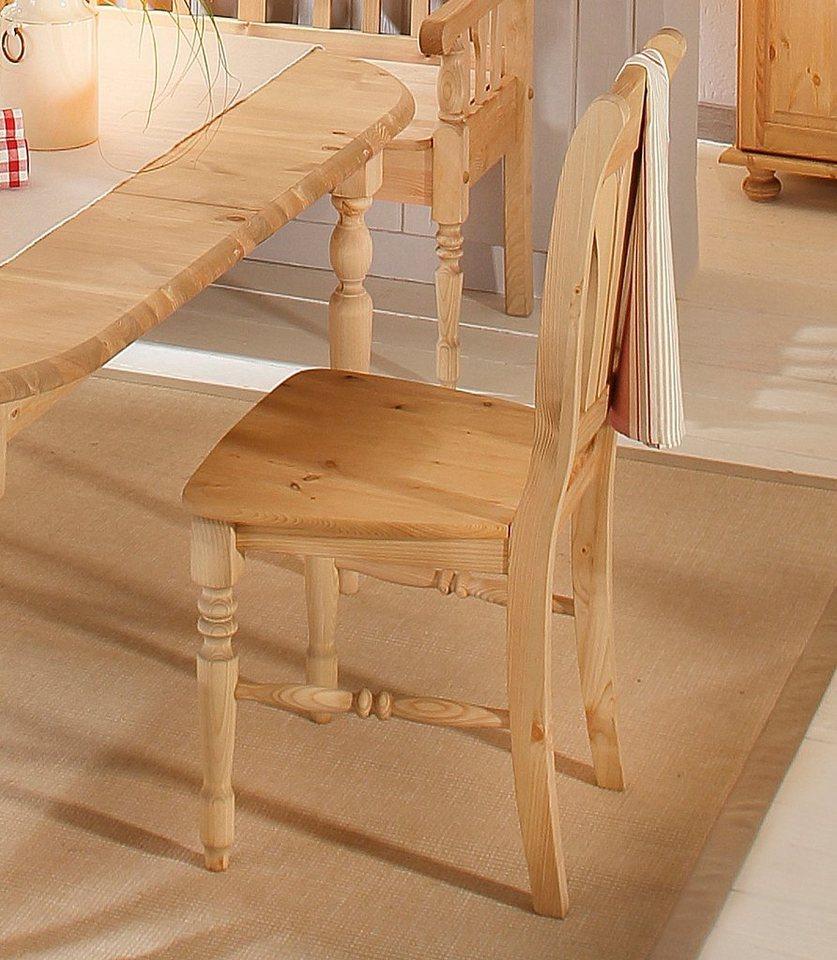 Massivholz-Stuhl, Home affaire, »Marla«, (2,4 oder 6 Stck.) in gelaugt/geölt