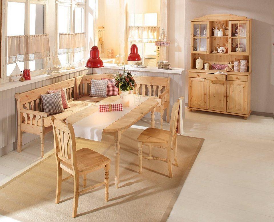massivholz truheneckbank home affaire j tland in 2 gr en online kaufen otto. Black Bedroom Furniture Sets. Home Design Ideas