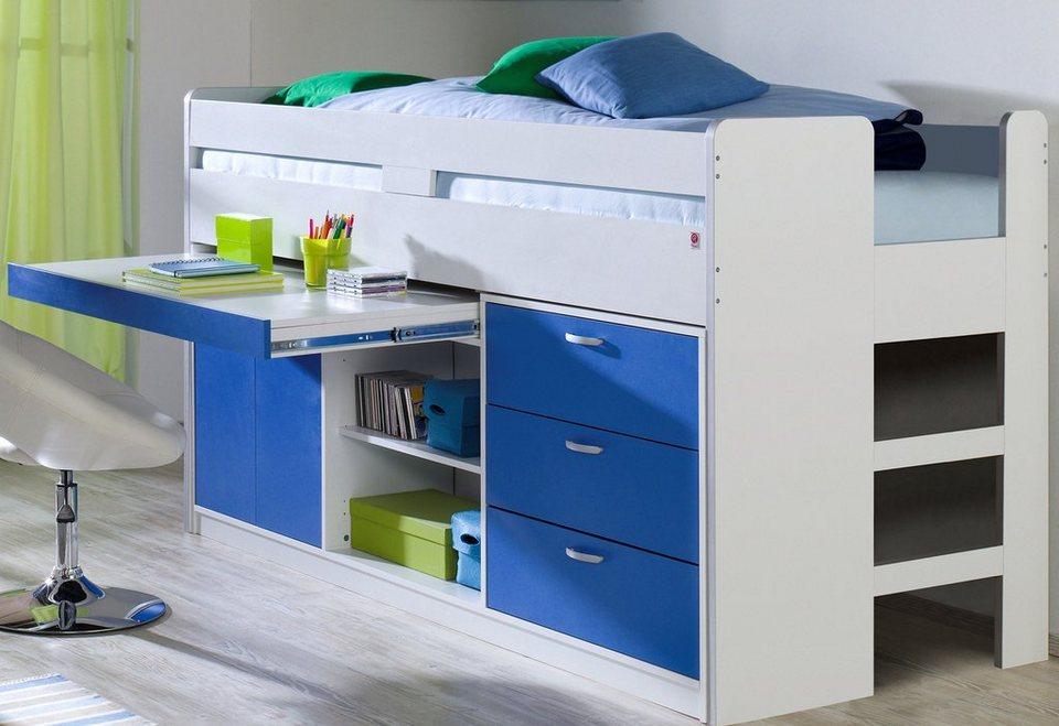 hochbett mit schubladen asoral hochbett loft xl liso mit treppe schreibtisch 4 relita hochbett. Black Bedroom Furniture Sets. Home Design Ideas