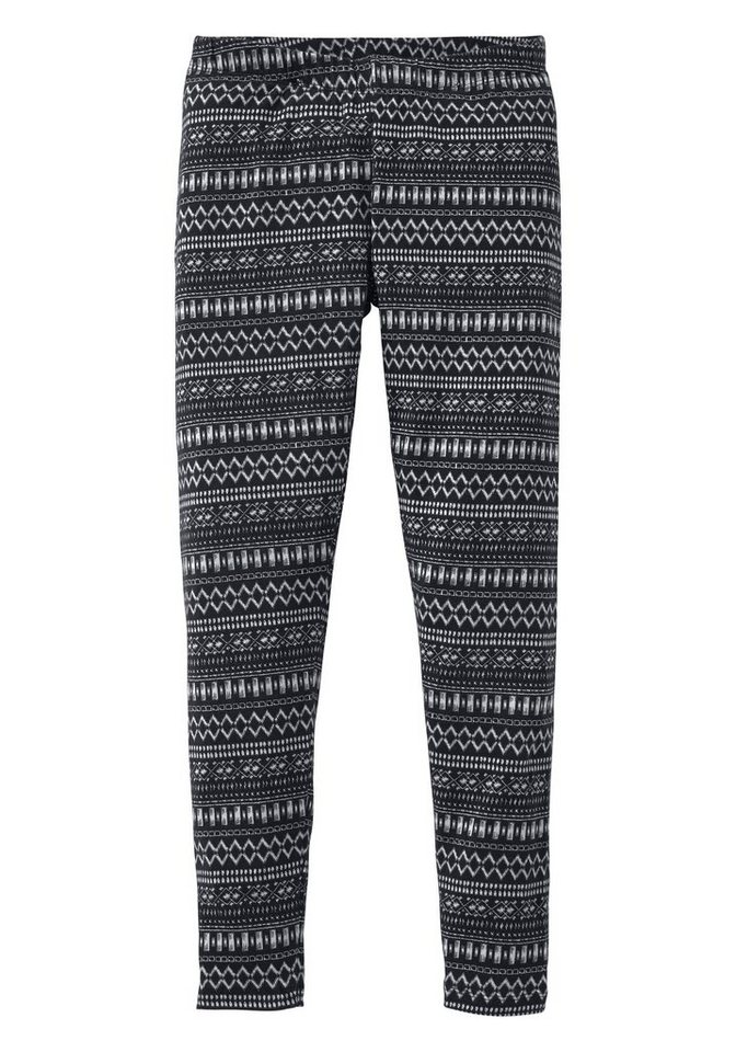 Arizona Leggings mit Ethnomuster in schwarz-offwhite