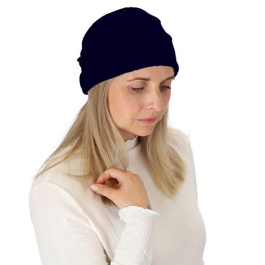 halsüberkopf Accessoires Strickmütze »Mütze mit Raffungen« modische Strickmütze mit Raffungen