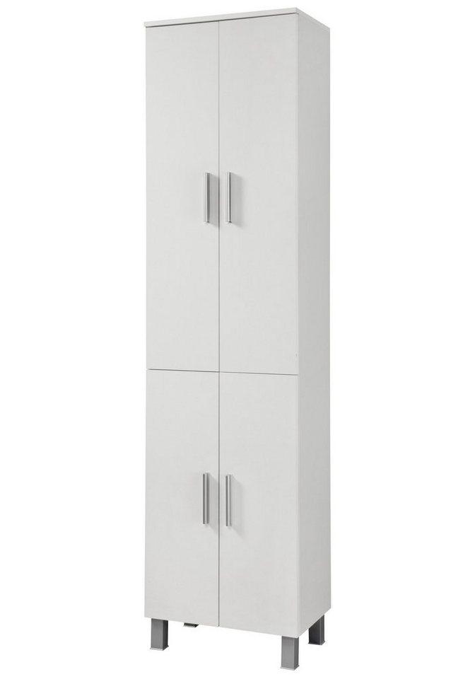 Hochschrank »Monaco«, Breite 50 cm in weiß/weiß