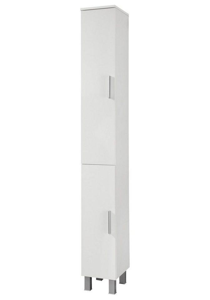Hochschrank »Monaco«, Breite 25 cm in weiß/weiß