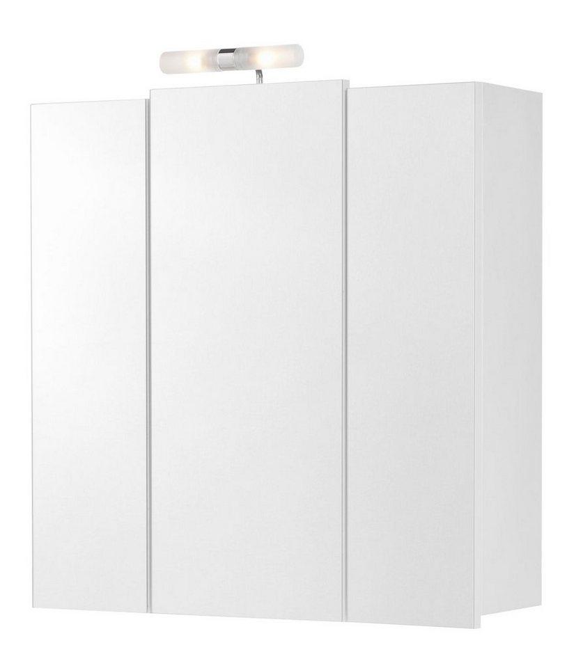 spiegelschrank capri breite 68 cm mit beleuchtung. Black Bedroom Furniture Sets. Home Design Ideas
