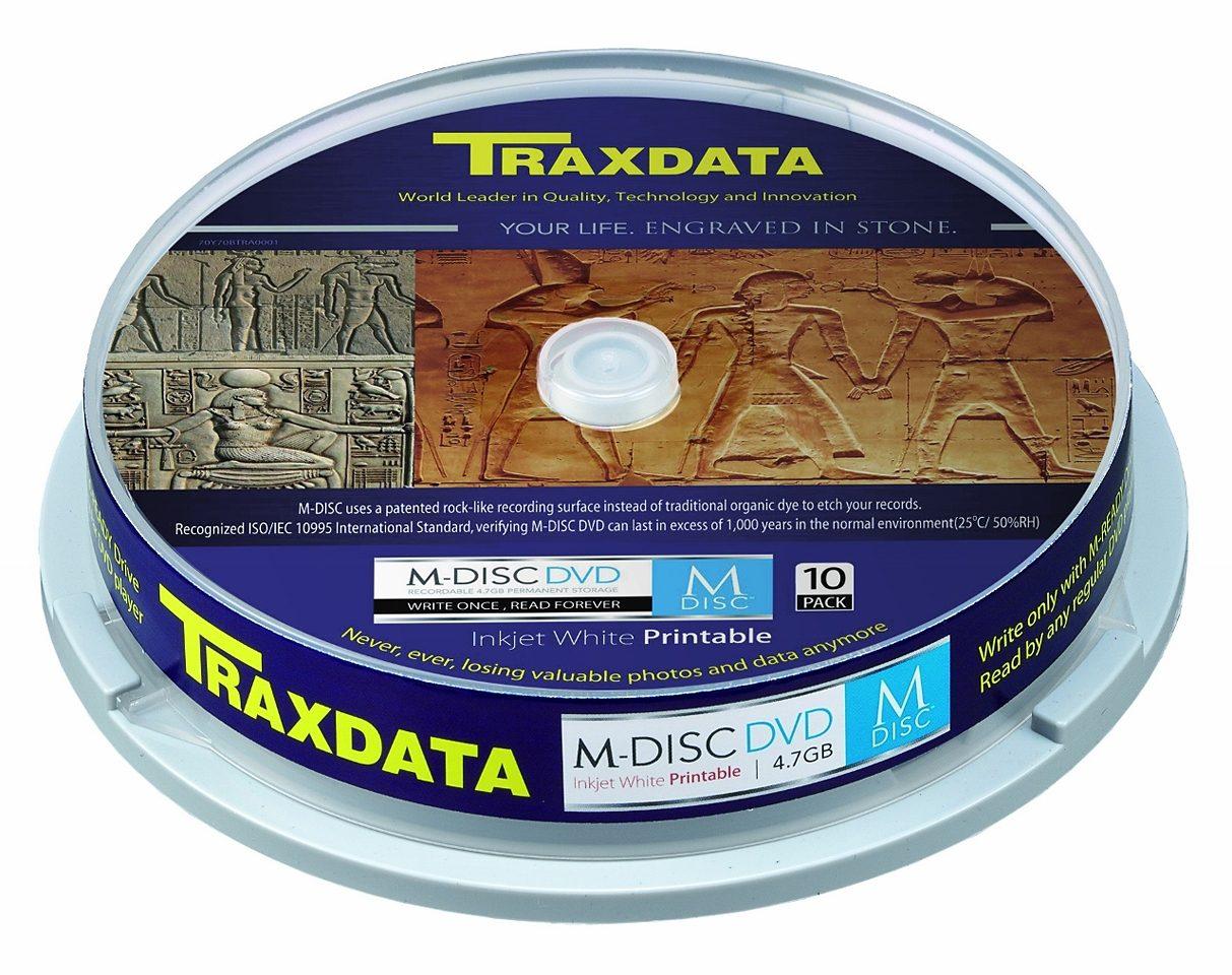 TRAXDATA Langzeitarchivierung »M-DISC DVD CAKE 10 PRINTABLE«