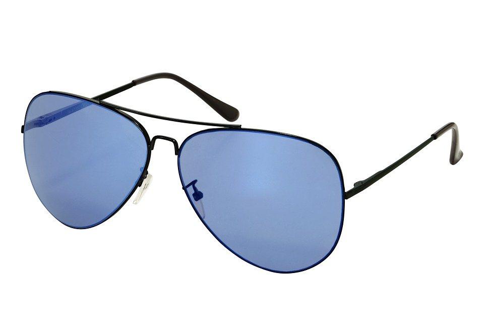 Sonnenbrille in schwarz/blau