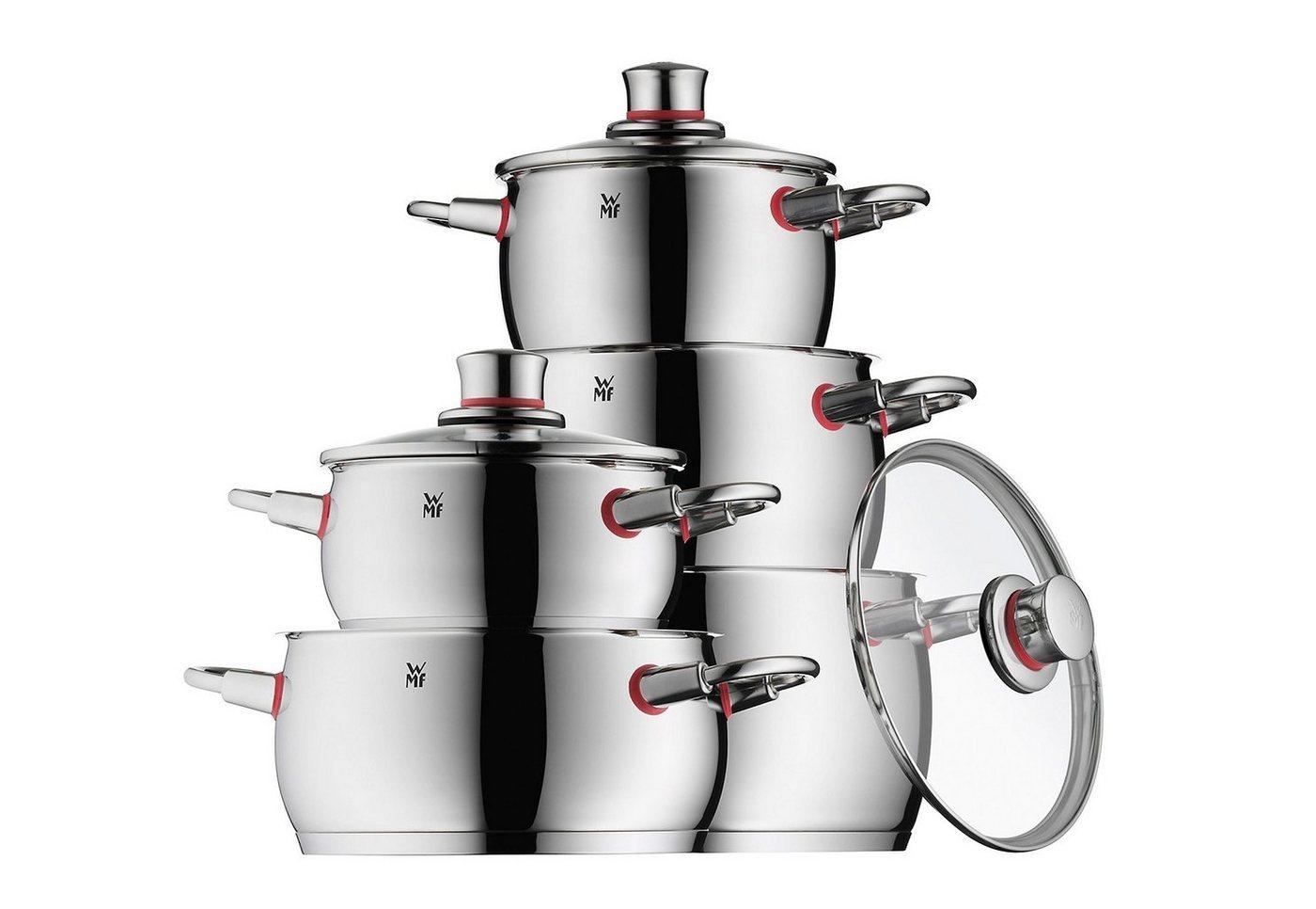 WMF Topf-Set »Quality One«, Cromargan® Edelstahl Rostfrei 18/10, (Set, 10 tlg) | Küche und Esszimmer > Kochen und Backen > Töpfe | WMF