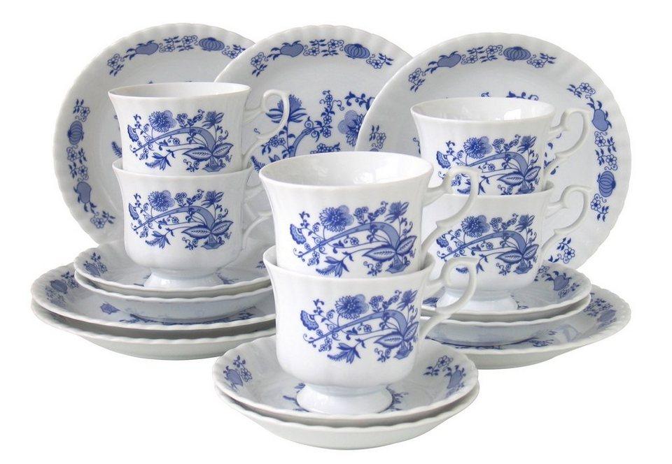 Porzellanserie, »Zwiebelmuster«, CreaTable in weiß mit blauem Dekor