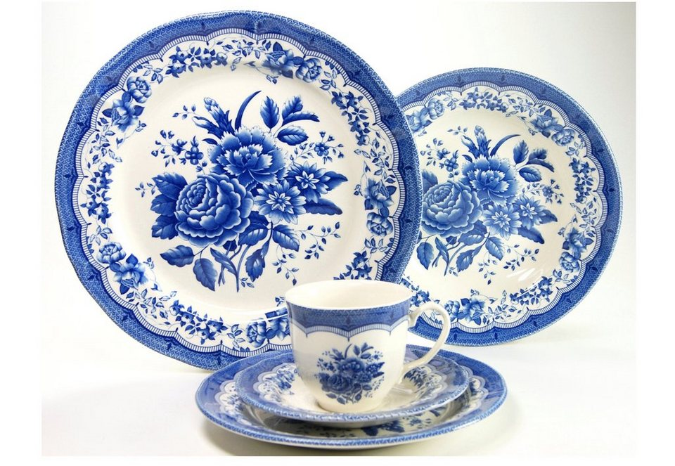 Kombiservice, »Victorian Blue«, CreaTable (30tlg.) in blau