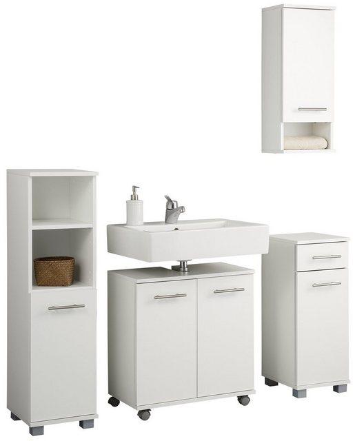 Badezimmer Sets - Schildmeyer Badmöbel Set »Emmi«, (Set, 4 tlg), mit Metallgriffen  - Onlineshop OTTO